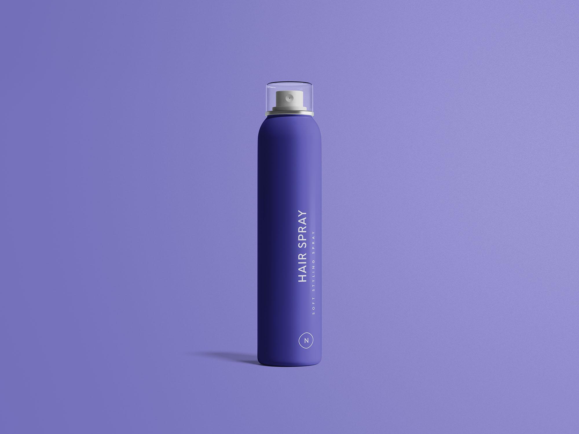 Hair Spray Mockup Free PSD Template