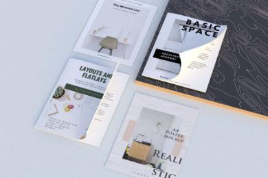 Magazine & Poster Free PSD Mock-ups