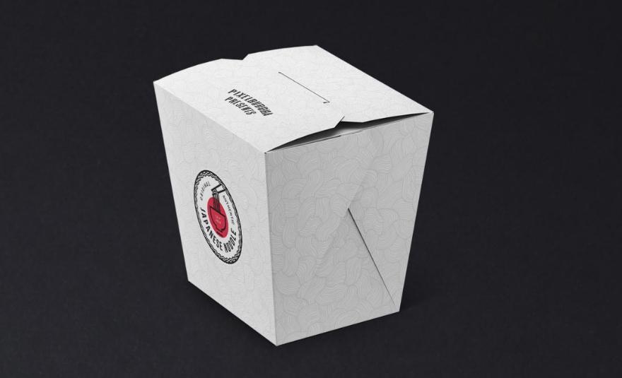 Noodles Box Free PSD Mockup Set