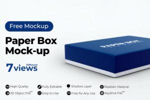 Paper Box Free PSD Mockup