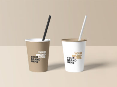 Paper Cup Free PSD Mockups