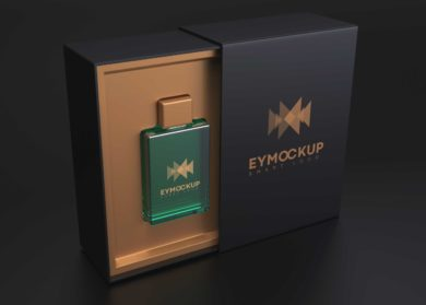Perfume Box Packaging - Free PSD Mockup
