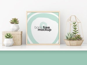 Professional Square Poster Free PSD Mockup