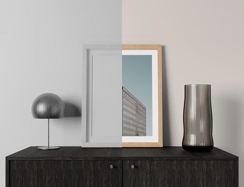 Realistic Photo Frame Free Mockup