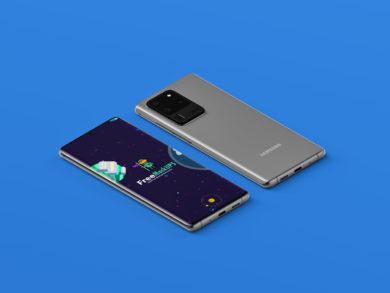 Samsung Galaxy S20 Ultra Free PSD Mockup