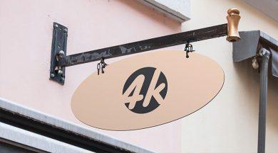 Shop Signboard Free PSD Mockup
