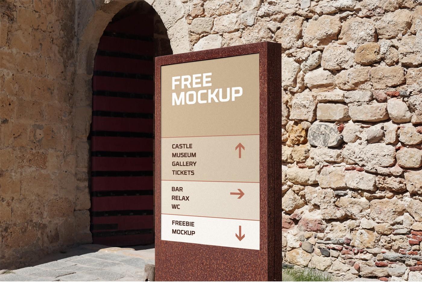Wayfinding Sign Free PSD Mockup