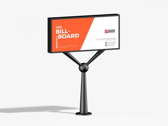 Advertisement Billboard Free PSD Mockup