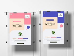 Concrete Environment Clasps Free Posters Mockup