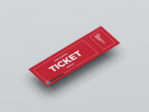 Floating Ticket Free Mockup Template