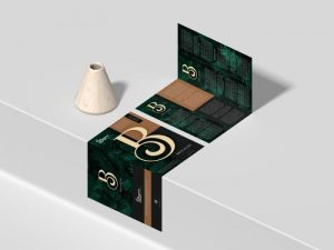 Free A4 Bi-Fold Branding Brochure Mockup