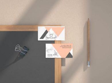 Free Business Card Mockup Kit