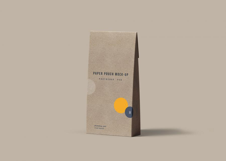 Free Food Paper Pouch Mockup