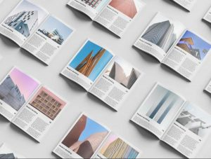 Free Magazine Set Mockup Template