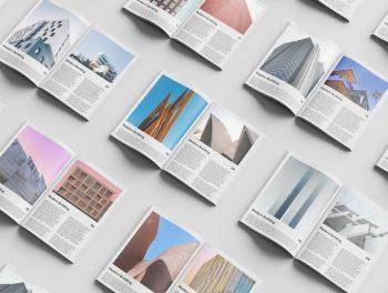 Free Magazine Set Mockup Template