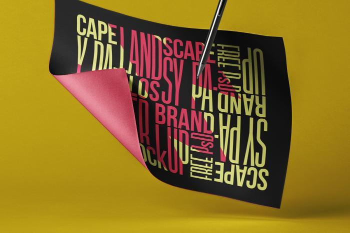 Landscape Brand Paper Free Mockup