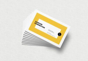 Realistic Stacked Free Business Card Mockup