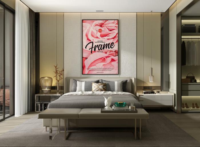 Room Interior Frame Free Mockup Template