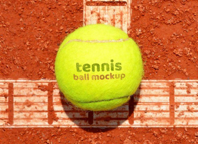 Soft Lawn Tennis Ball Logo Free Mockup