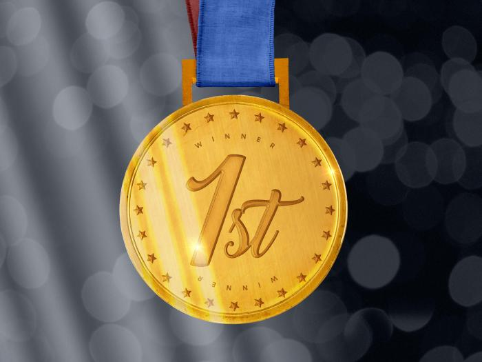 Sports Gold Medal Free Mockup