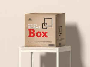 Square Packaging Product Box Free Mockup Template