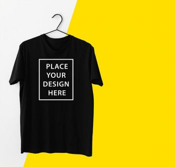 T-Shirt With Hanger Free PSD Mockup