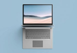 Top View Surface Laptop Free Mockup