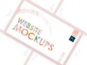 Website Mockup Pack Free PSD Template
