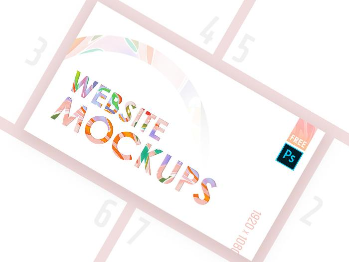 Website Mockup Pack Free PSD Template