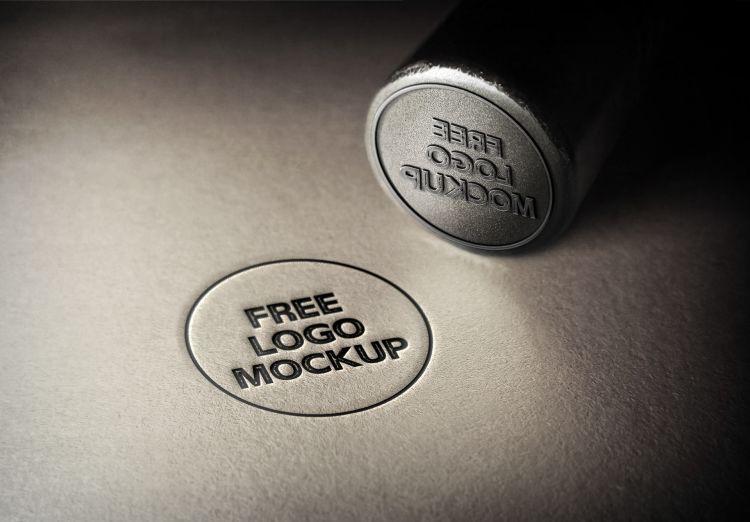 3D Logo Free PSD Mockup