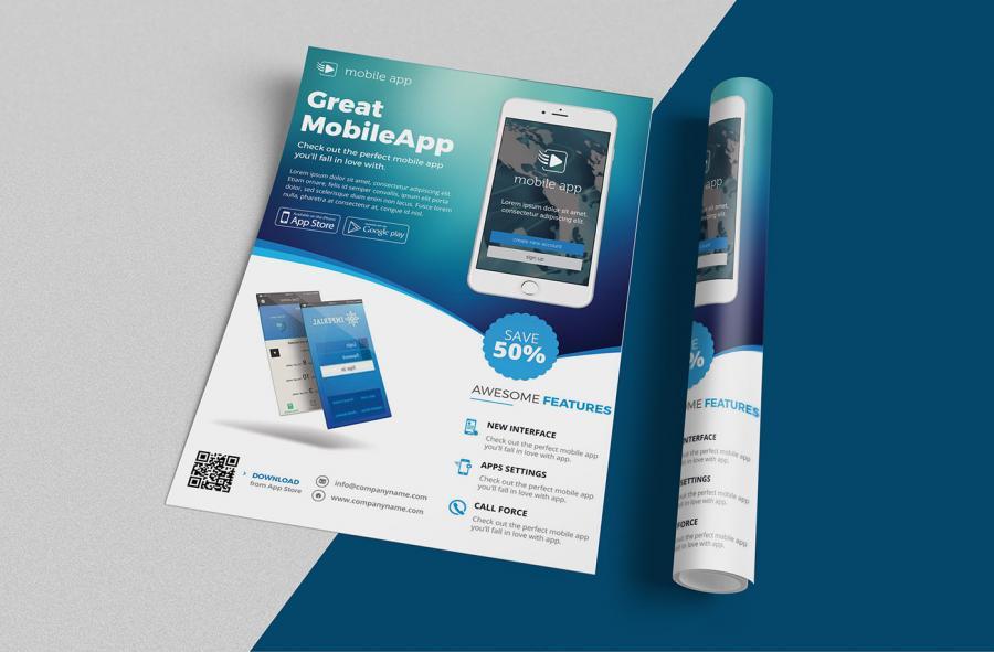 A4 & A2 Free PSD Flyer Mockups