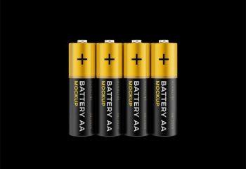 AA Battery Free PSD Mockup