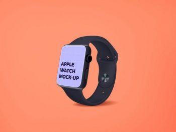 Apple Watch Screen Free (PSD) Mockup