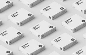 Box Grid Free (PSD) Mockup