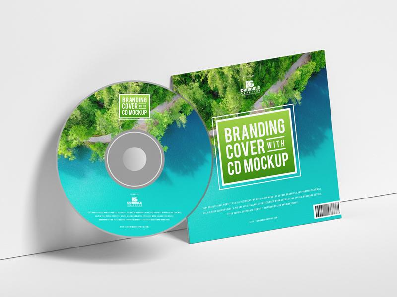 Branding Cover With CD Free Mockup