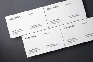 Business Card Showcase Free PSD Mockup