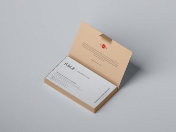 Business Cards in Box Free (PSD) Mockup