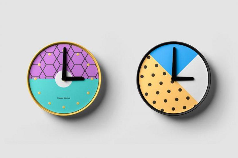Clock Mockup Free PSD Template