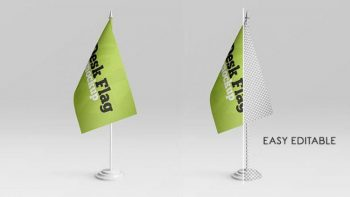 Desk Flag Free (PSD) Mock-ups