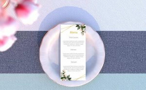 Dl Size Wedding Menu Free Mockup