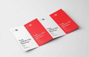 Four Fold Brochure Free Mockup Template