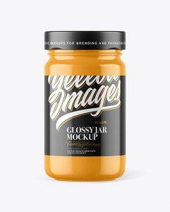Free Glossy Jar Mockup