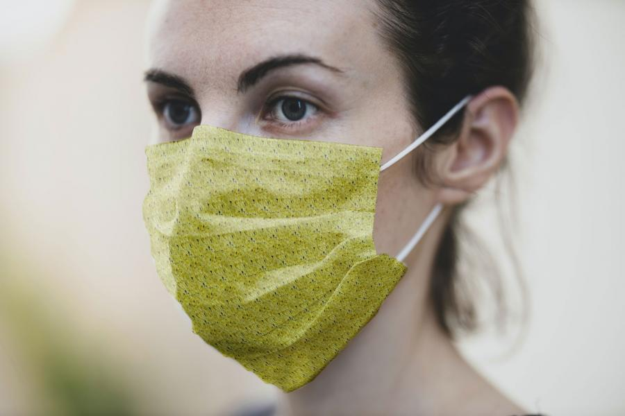 Free PSD Medical Mask Mockup