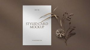 Free Stylish Invitation Card Mockup