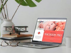 Website Showcase MacBook Pro Free Mockup