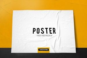Horizontal Free PSD Poster Mockup