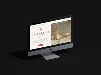 Isometric iMac Pro Free PSD Mockup