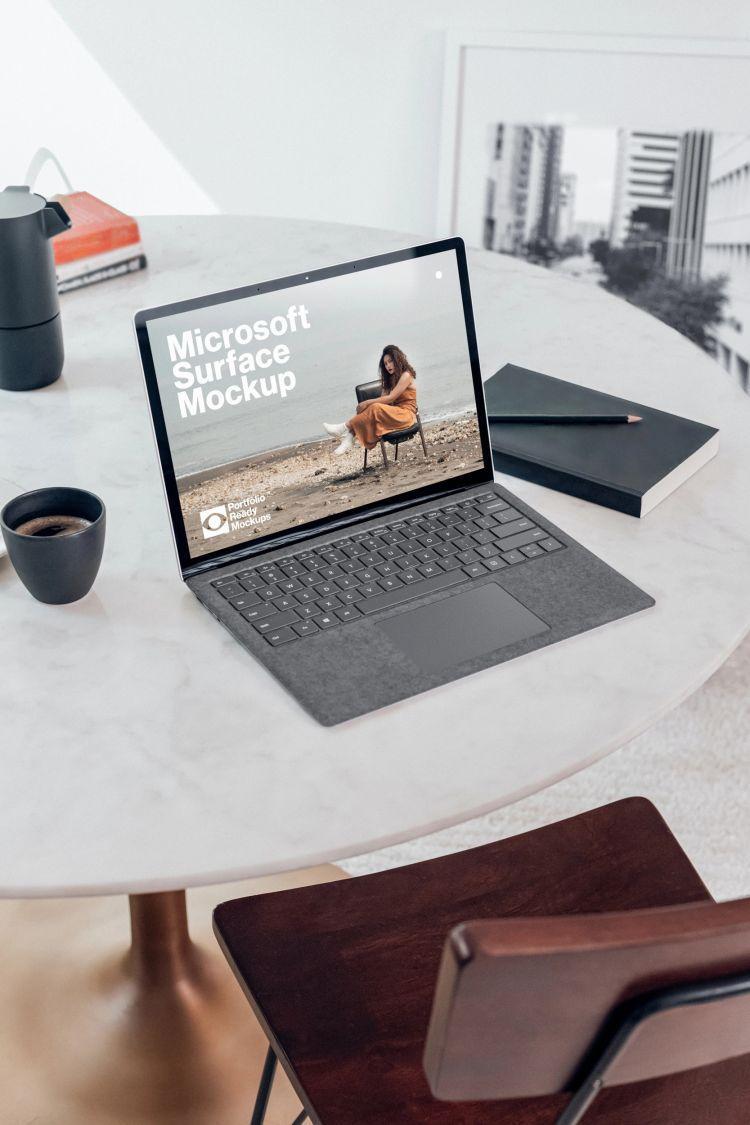 Microsoft Surface Free PSD Mockup