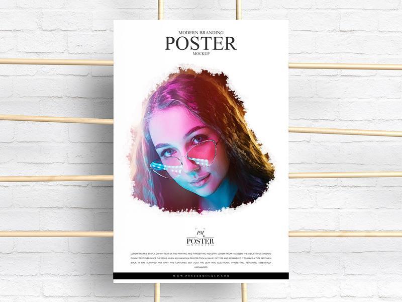 Modern Branding Advertising Poster Mockup
