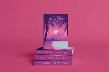 Realistic Book Cover Scenes Free PSD Mockup
